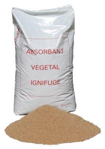 absorbant poudre végétal ignifugé
