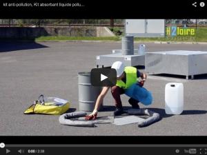 vidéo kit absorbant liquide polluant