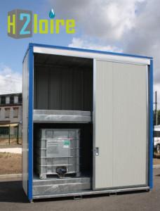 armoire pour produits chimiques ECOPACK pour fûts et cubitainers