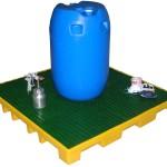 plateforme en rétention avec caillebotis amovible et finition polyéthylène
