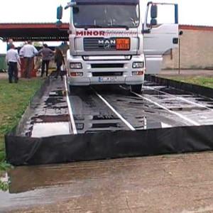 bac de rétention souple pour camion citerne avec renfort
