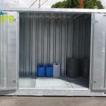 Entrepôt de stockage en rétention pour produits chimiques