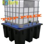 bac polyéthylène pour la rétention en cubi de 1000 l
