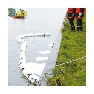 Barrage antipollution : barrage absorbant hydrocarbure hydrophobe